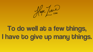 Hope Zvara-How to stay focused blog quote