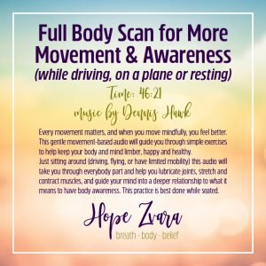 Full Body Scan for More Movement & awareness Time 46:21