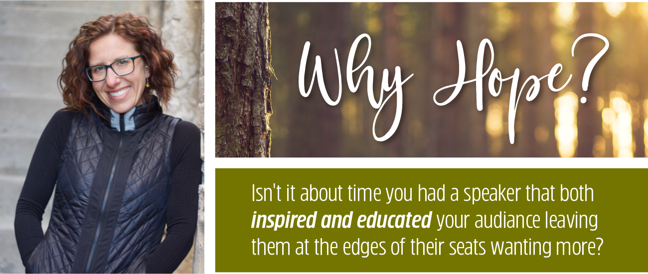Inspire and educate your audience with Hope's motivational speaking