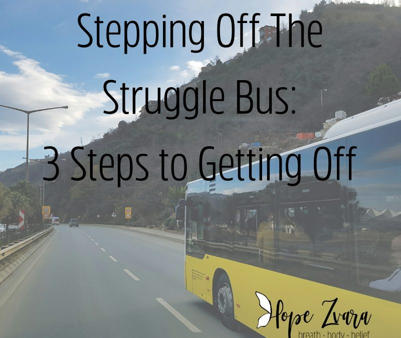 Stepping Off The Struggle Bus: 3 Steps to Getting Off