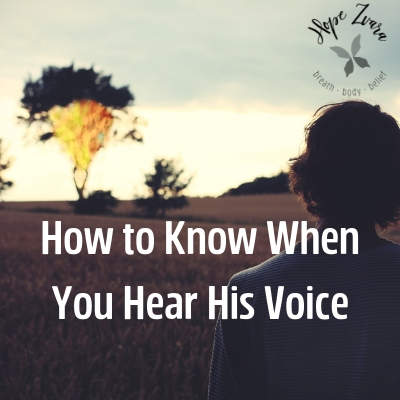 How To Know When You Hear His Voice