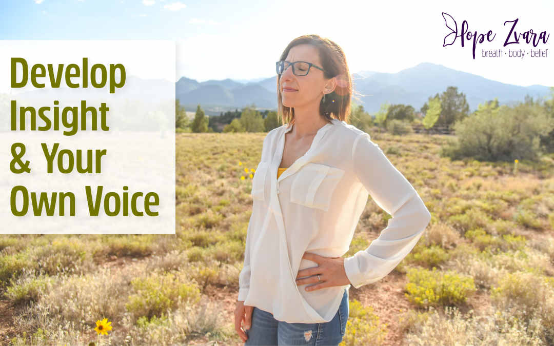 How do you develop insight and your own voice?
